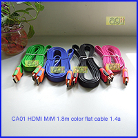 CA01 HDMI to HDMI MM color flat cable 1.8M ver1.4a