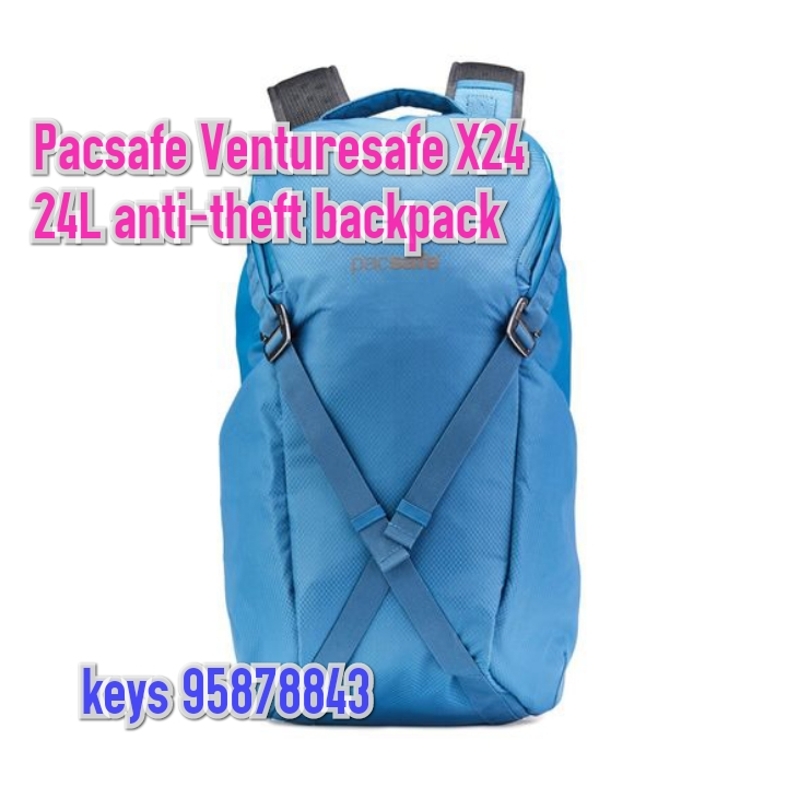 Pacsafe  Venturesafe X 24L anti-theft backpack - blue