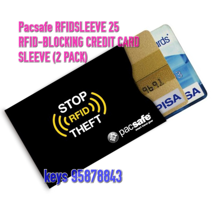 Pacsafe RFIDsleeve 25 RFID-blocking credit card sleeve  (2p/pack