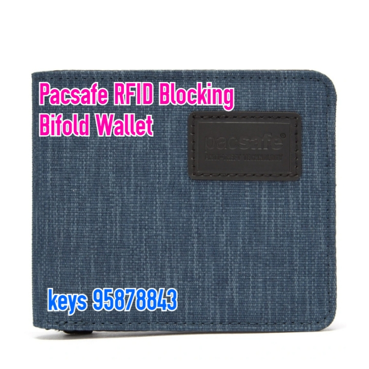 Pacsafe RFIDsafe RFID Blocking Bifold Wallet - Dark Denim