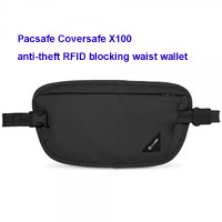 Pacsafe Coversafe X100 anti-theft RFID blocking waist wallet