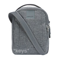 Pacsafe Metrosafe LS100 anti-theft cross body bag - dark tweed