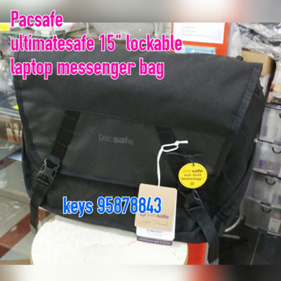Pacsafe Ultimatesafe 15-inch lockable laptop messenger bag